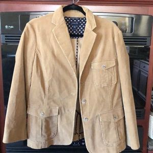 Lands End Corduroy Beige Blazer